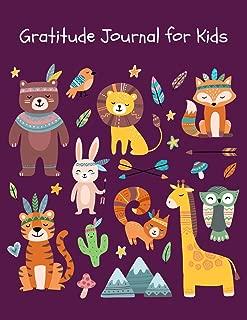 Gratitude Journal for Kids: Cute Woodland Animals Gratitude Journal with Prompts for Boys & Girls ~ Large Sketchbook for Drawing, Sketching & Doodling