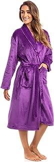 Spa Collection Plush Fleece Robe, Luxurious Warm & Cozy Bathrobe