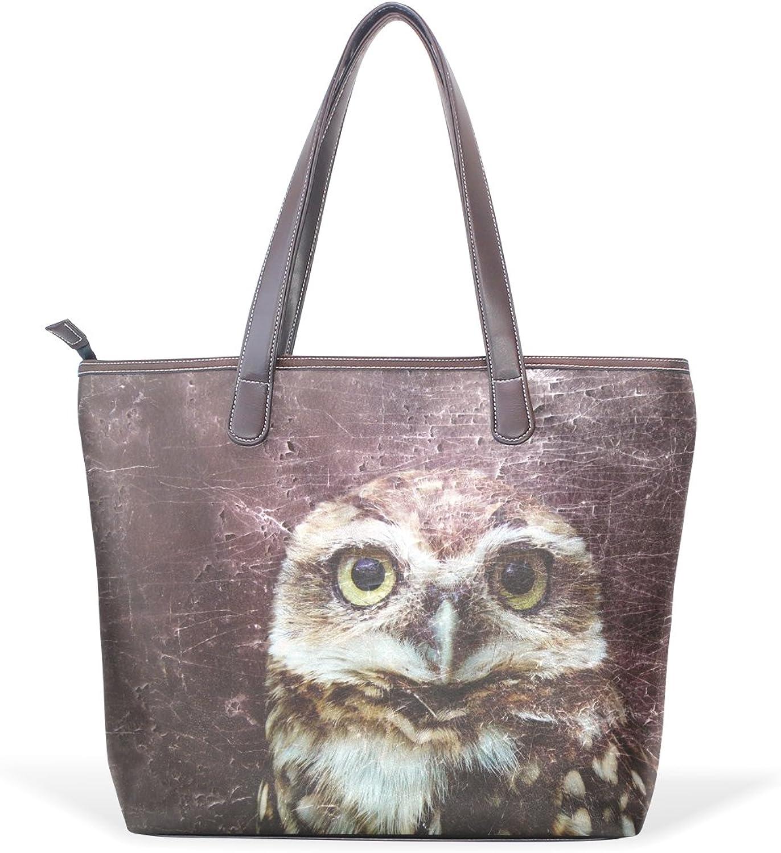 COOSUN Damen Owl PU-Leder Grosse Handtasche Griff Griff Griff Umhängetasche M (40x29x9) cm muticolour B07412KBQ3  Haltbar 50dae0