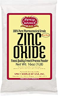 Spicy World Zinc Oxide 1 Pound Bag - NON NANO Uncoated - 100% Pure Pharmaceutical Grade - Perfect for Sunscreen, Lotions, Creams