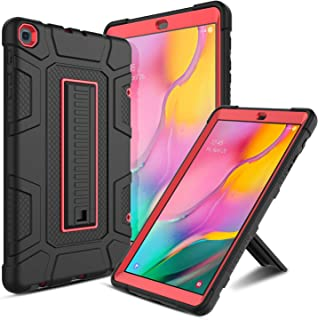 Galaxy Tab A 10.1 Case 2019, Elegant Choise Full-Body Rugged Heavy Duty Shockproof Armor Protective Cover Case with Kickstand for Samsung Galaxy Tab A 10.1 Inch/SM-T510 / T515 (Red)