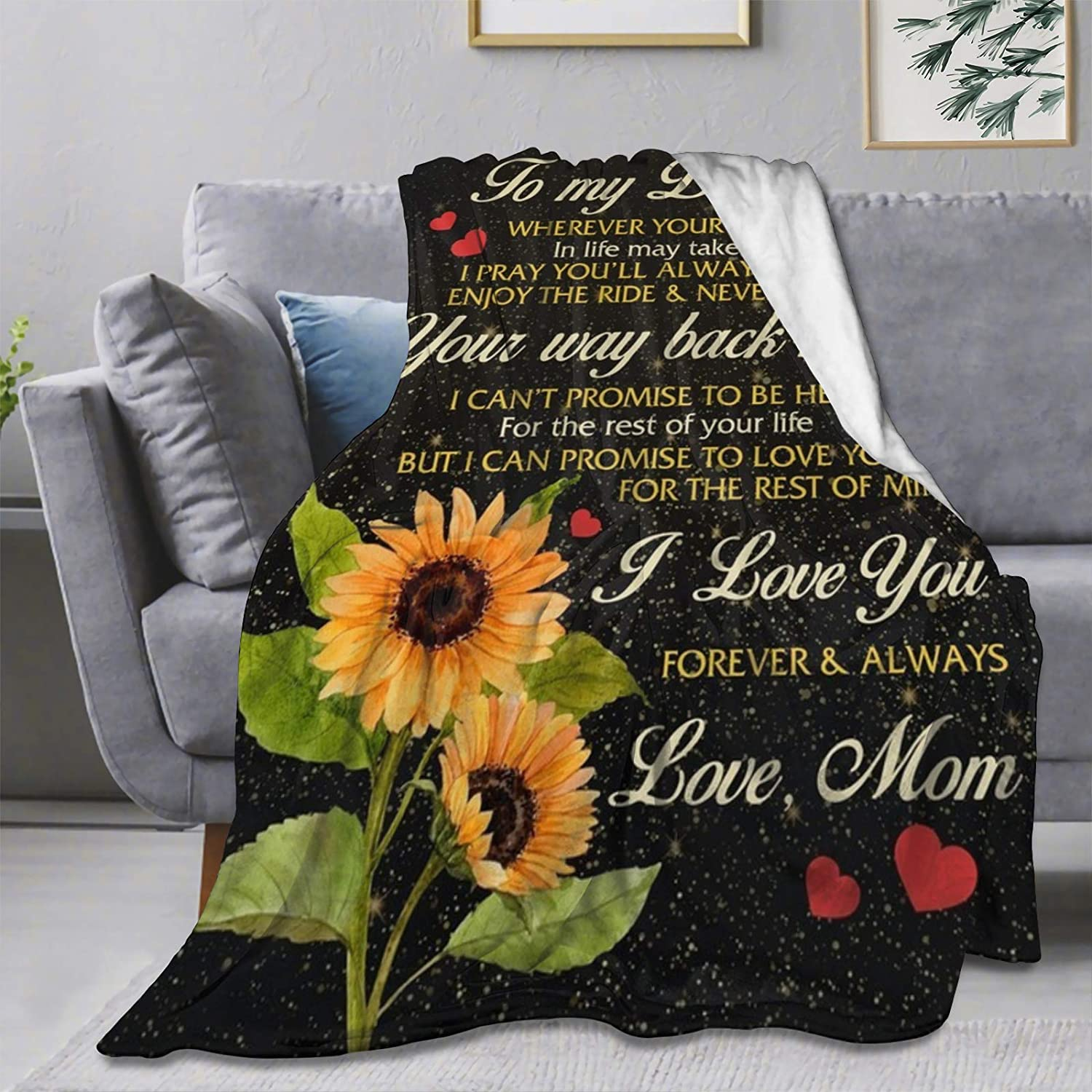 Ultra Soft Flannel Fleece Throw Blanket Gift to My Daughter Mom Outstanding Special Campaign