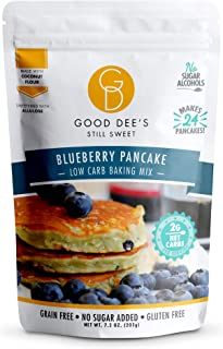 Good Dee's Blueberry Pancake Mix - Low Carb Keto Baking Mix (2g Net Carbs, 24 Pancakes) | Allulose Sweetened, Sugar Alcoho...