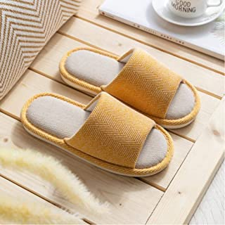 Women'S Household Slippers Leisure Indoor Outdoor Open-Toed Shoes Cotton And Linen Slippers Non-Slip Couple Slippers