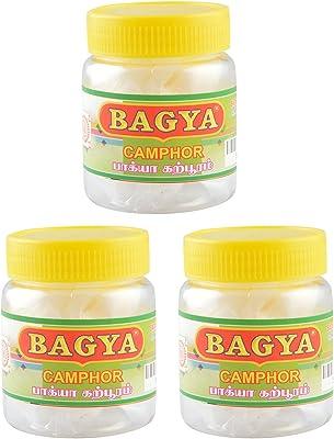 Bagya's Camphor (1.5 cm x 1 cm x 5 cm, White, 3 Bottles, 50 Pieces Each)