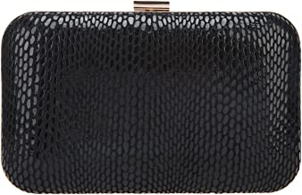 black and gold studded clutch bag