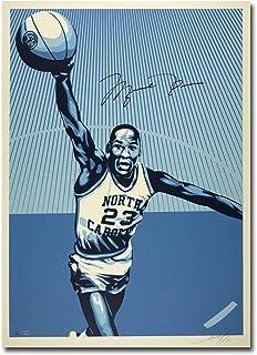 3175e2886a46 Michael Jordan Signed Autographed 24X36 Print UNC Shepard Fairey   50 -  Upper Deck Certified