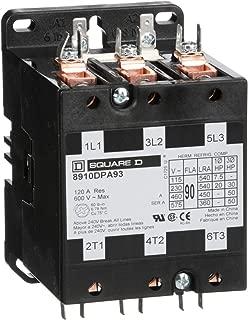 Square D 8910DPA93V02 3 Pole, 90 Amp, 110V Definite Purpose Contactor