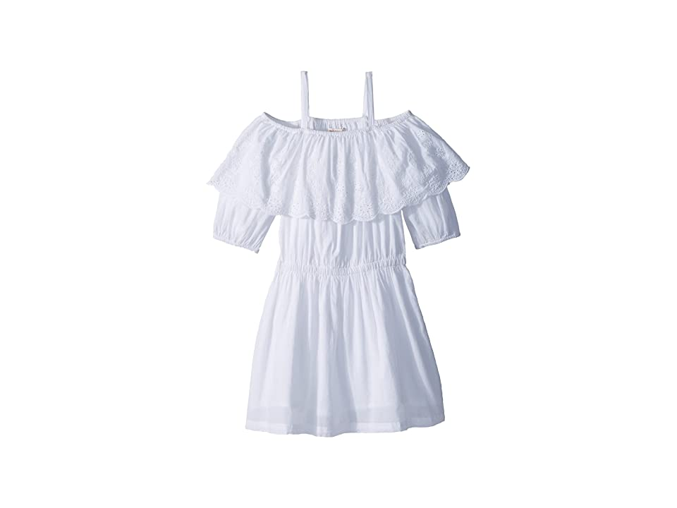 Ella Moss Girl Off-The-Shoulder Peasant Dress (Big Kids) (White) Girl