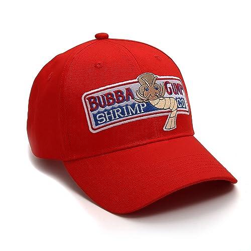 c9d451e2f04 Nofonda Forrest Gump Cap Bubba Gump Shrimp Running Red Costume Baseball Hat(Size   One