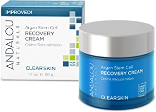 Andalou Naturals Argan Stem Cell Recovery Cream, 1.7 oz, For Oily or Overreactive Skin, Helps Clarify & Cleanse Pores for Glowing Skin