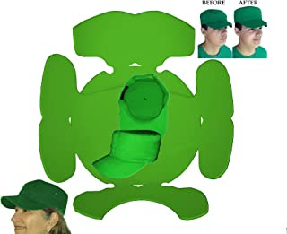 3Pk. Green Hat Panel Shapers Combo for Military Caps, Flat Bill 5 Panel Hat, Army Cap, Conductors Hat & Cadet Caps, Flexible Hat Shaper, Long Lasting Hat Liner, 1 FREE INCLUDED PLUS FREE S&H, 100% MBG