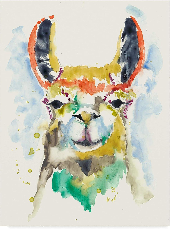 Trademark Fine Art HiFi Llama II by Jennifer goldberger, 14x19