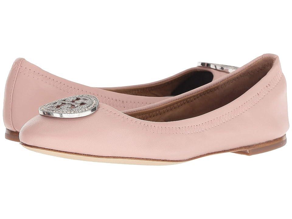 Tory Burch Liana Ballet Flat (Sea Shell Pink/Silver/Sea Shell Pink) Women