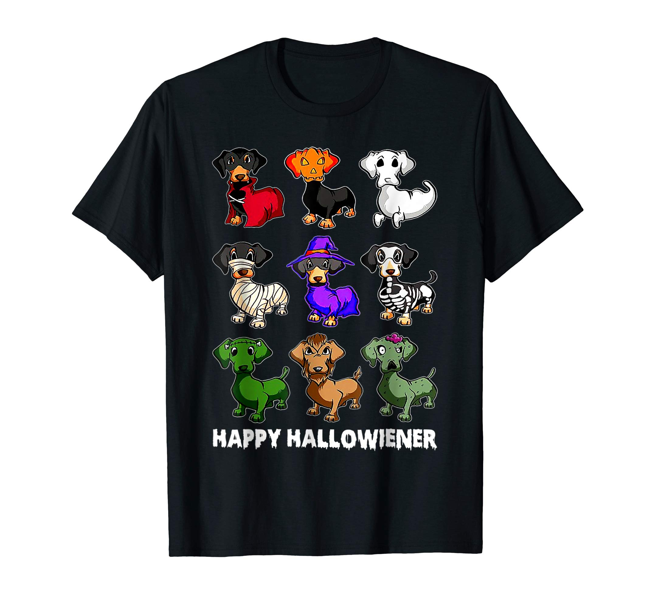 Dachshund Happy Halloweiner Funny Halloween Dogs Lover T-Shirt