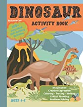 Dinosaur Activity Book: Multiple skill-building activities: Coloring, tracing, writing, word searches and more. Ages 4-8 PDF