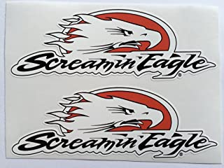 Screaming Eagle Head Tribal Flame Graphic Kit with American Flag