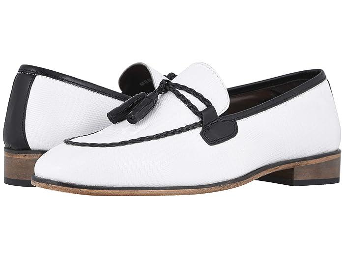Mens Vintage Shoes, Boots | Retro Shoes & Boots Stacy Adams Bianchi Tassel Slip-On WhiteBlack Mens Shoes $60.76 AT vintagedancer.com
