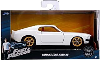 Jada Roman's Ford Mustang White with Red Interior Fast & Furious Movie 1/32 Diecast Model Car 99517