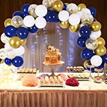 blue white and gold party ideas