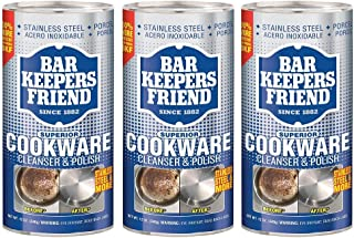 Bar Keepers Friend Superior Cookware Cleanser & Polish | 12-Ounces | 3-Units