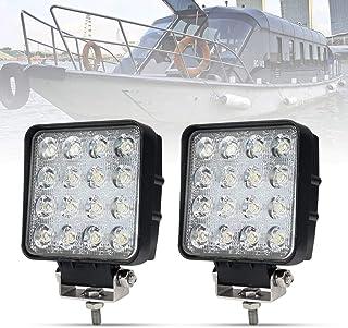 Liteway 2X80W 4Inch Cube Work Light Flood LED Light Bar Offroad 4WD Truck ATV UTV SUV Tractor Driving Lamp Daytime Running Light, 1 Year Warranty