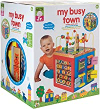 ALEX Discover My Busy Town Wooden Activity Cube (Renewed)