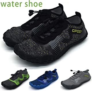 2019 New Multifunctional Barefoot Shoes Men Quick-Dry Water Shoes Lightweight Non-Slip Breathable Fashion Swimming Surfing Shoes(Black,US7-UK6-EU40)