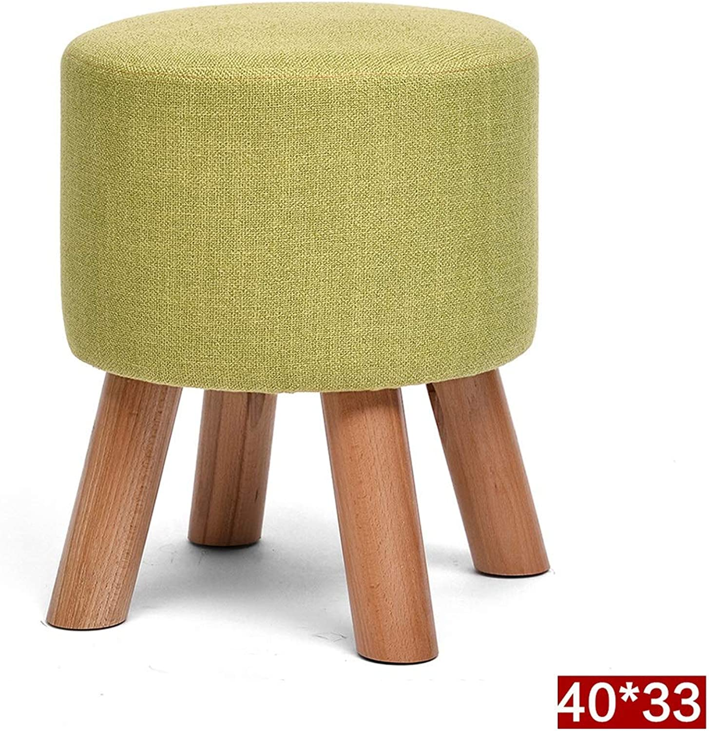 WEIYV-Barstools,bar Chair First Wood Change shoes Bench Fashion Small Stool Solid Wood Low Stool Creative shoes Bench Cloth Sofa Stool Pier Household Stool (color   Matcha 40cm, Size   A)