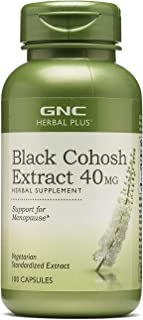 GNC Herbal Plus Black Cohosh Extract 40mg, 100 Capsules, Support for Menopause