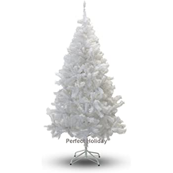 Perfect Holiday Christmas Tree, 4-Feet, PVC Crystal White