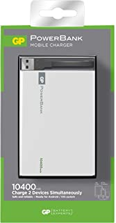 Gp Batteries Gp1C10Awe 10400 Mah  Taşınabilir Şarj Cihazı, Beyaz/Gri