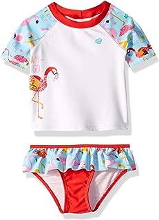 Girls' Baby Swim Suit Bathingsuit Set with Rashguard