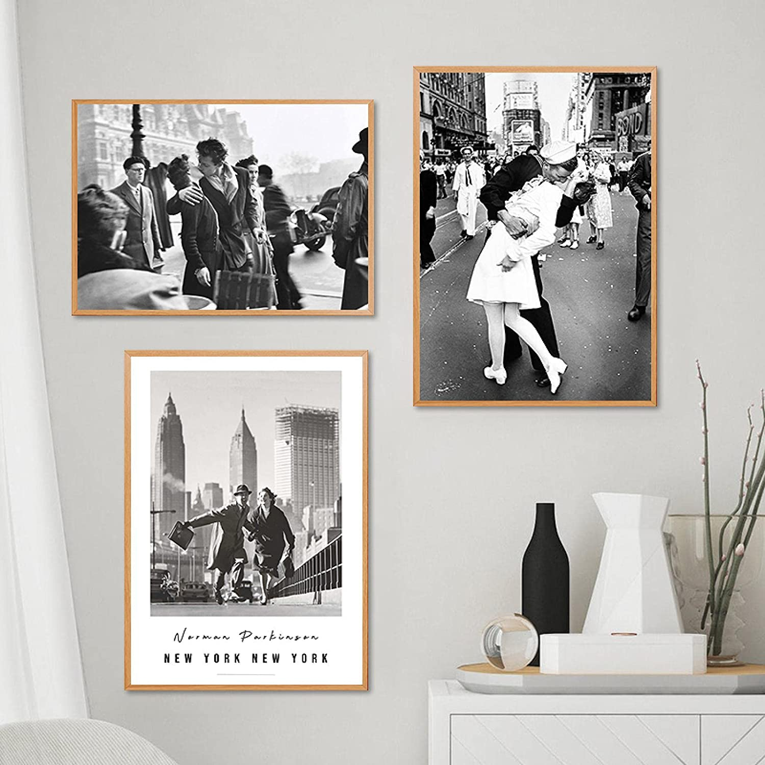 Black Deluxe White Famous Photography Posters Wall CanvasPrint Detroit Mall Vintage