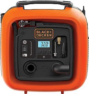 Black + Decker 11.0 bar/12 V-compressor/luchtpomp (160 psi, voor banden, ballen, rolstoelen, enz, met 2 bedrijfsmodi en po...