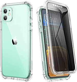 SURITCH Clear Case for iPhone 11, 【Privacy Screen Protector】【Edge to Edge】 Anti Spy Film Full Protection Hard Cover Hybrid...