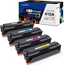 GPC Image Compatible Toner Cartridge replacement for HP 410A CF410A CF411A CF412A CF413A to use with Color LaserJet Pro MFP M477fdw M477fdn M477fnw Pro M452dn M452nw M452dw Printer Toner (4 Pack)
