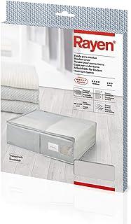 comprar comparacion Rayen - Caja de almacenaje de ropa y mantas de cama. Bolsa de tela para ropa con cremallera, rejilla transpirable, plegabl...
