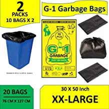 G1 Jumbo Disposable Garbage Trash Waste dustbin Bags XX Large 30 X 50 Inches Pack Of 2 20 Pcs