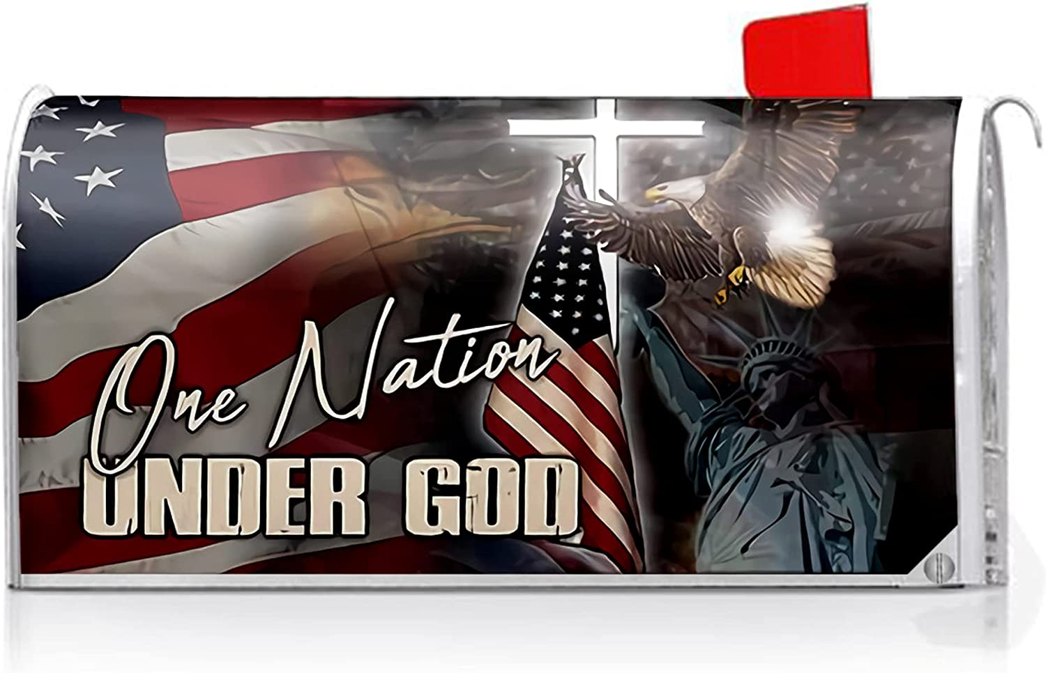 Oasisdream American Flag Mailbox Max 46% OFF Covers Post Max 87% OFF God Magnetic Under