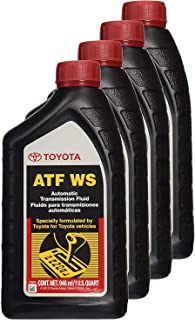 Toyota 00289-ATFWS  Lexus & Automatic Transmission Fluid WS ATF World Standard, Pack of 4