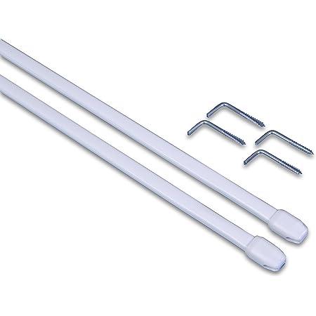Gardinia Vitragestange Weiß 80-120 cm Aluminum 80-120 cm|Weiß 2