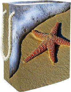 Vockgeng Plage des étoiles de mer Sac de Rangement Panier de Rangement imperméable Pliable de Jouets de Jouets de Panier a...