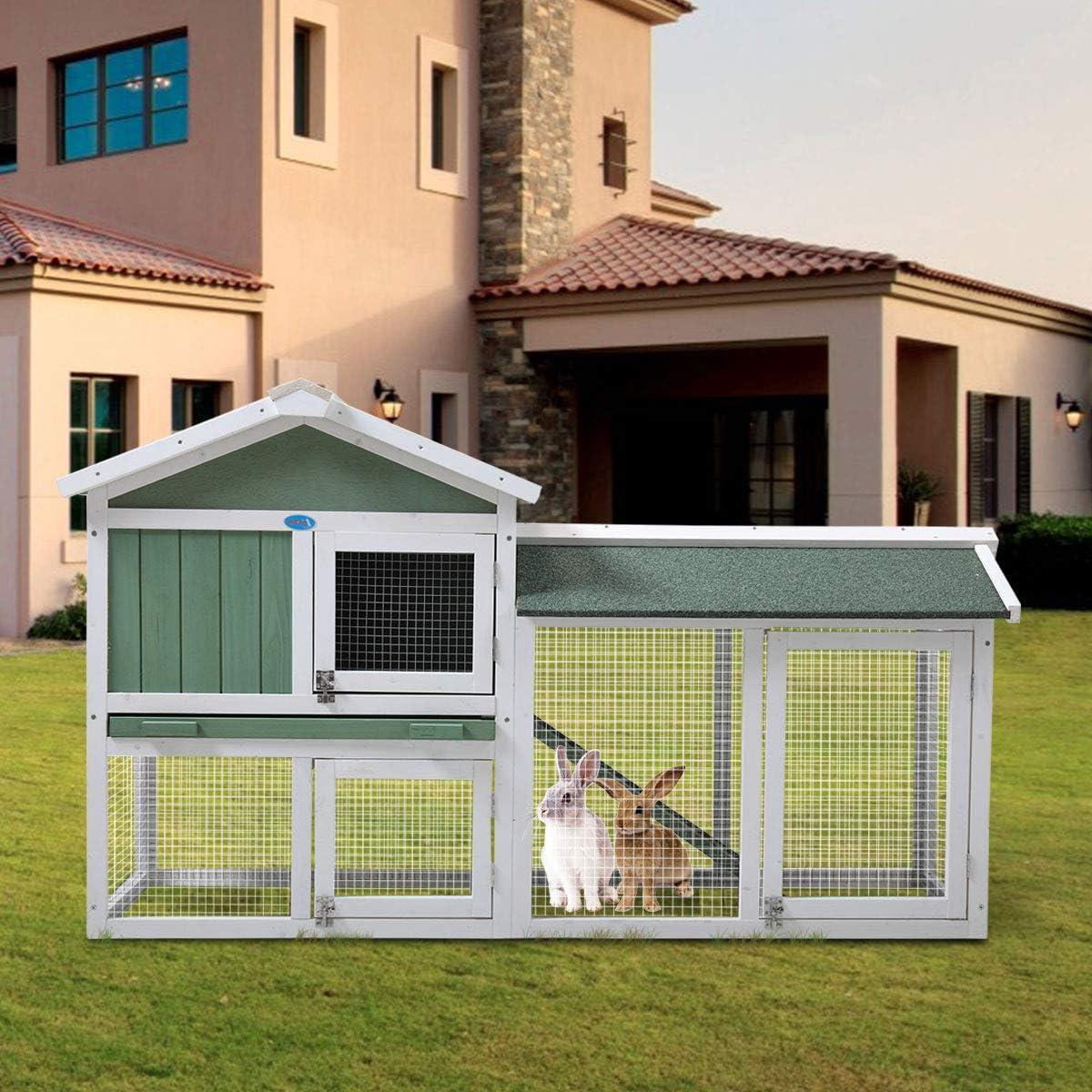 "16+ Buy JAXPETY New 8""Chicken Coop Wooden Bunny Rabbit Hutch w/Ramp ... Kollektion"