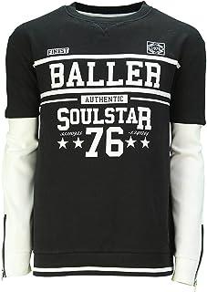 Soul Star Men's MSW Noir Crew Neck Baller 76 Sweatshirt