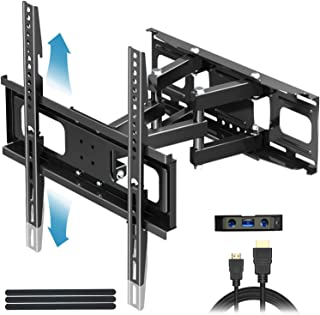 "Everstone TV Wall Mount for Most 32""-65"" TVs Heavy Duty Dual Arm Articulating Full Motion Tilt Swivel 14"" Extension Bracket,LED,LCD,OLED&Plasma Flat Screen Curved TV,Up to VESA 400mm,Height Adjustable"
