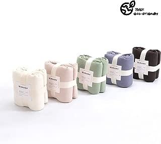 DR.LOMILOMI Premium 100% Cotton Flannel Quilt Blanket for Massage Tables, Beauty Spa, Salon or Home (Dark chocolate)
