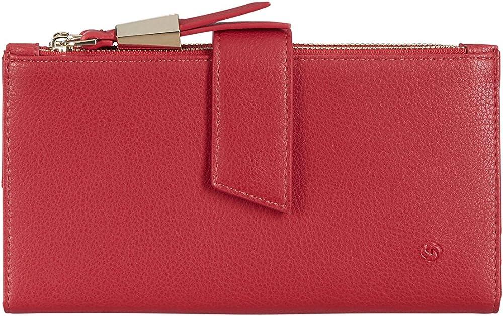 Samsonite,portafoglio fashion, porta carte di credito con doppia cerniera per donna, 100% poliuretano. 104395/1785