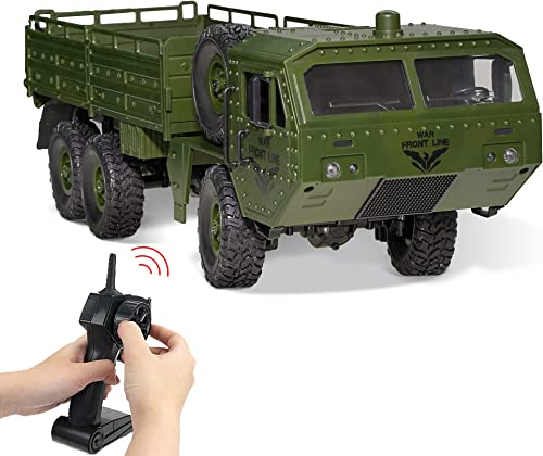 WQ Remote Control Military Vehicle with Transport Function Remote Control Stunt Car 2.4 Hz Radio Control Car Waterpro...