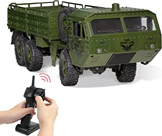 WQ Remote Control Military Vehicle with Transport Function Remote Control Stunt Car 2.4 Hz Radio Control Car Waterproof Ad...